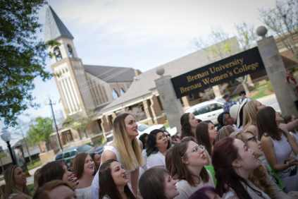 Rising seniors during the 2017 Alumnae Reunion Weekend at Brenau University, Saturday, April 08, 2017. (Photo/ John Roark for Brenau University)