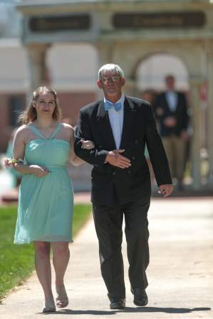 Sommer Stockton and her father David Stockton during the 2017 Alumnae Reunion Weekend at Brenau University, Saturday, April 08, 2017. (Photo/ John Roark for Brenau University)