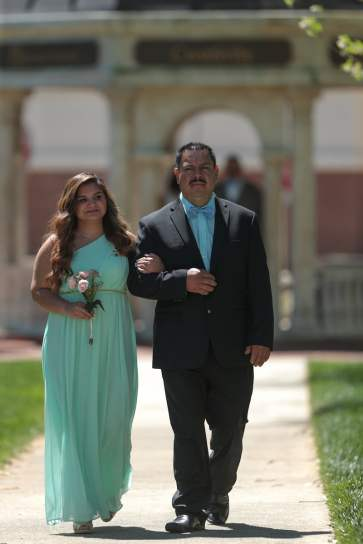 Nancy Benitez and her father Benito Benitez during the 2017 Alumnae Reunion Weekend at Brenau University, Saturday, April 08, 2017. (Photo/ John Roark for Brenau University)