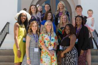 Alumnae from the WC 2007 gather to celebrate their 10 year anniversary. (AJ Reynolds/Brenau University)
