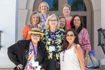 Brenau Alumnae from the 80's: Back Row: Denise Grogan WC' 81, Mary Crumrine WC '81 Middle Row: Shann Cash WC '81, Gale Cramer McKibbon WC '81, Stacey K. Morgan, WC '88 Front Row: Susan Bolles Smith WC '81, Lynn T. Kozlosky WC '80, Debra Sena WC '84(AJ Reynolds/Brenau University)