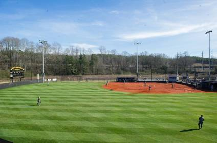 The opening double header at the Pacolet Milliken Field at the Ernest Ledford Grindle Athletics Complex between the Brenau Golden Tigers and Talladega College. (AJ Reynolds/Brenau University)