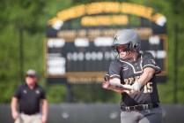 Brenau's Courtney Kenney takes a practice swing while she's on deck. (AJ Reynolds/Brenau University)