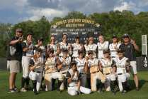 Members of Brenau women's softball pose for a group picture after defeating Coastal to seal their undefeated season during the Southern States Athletic Conference (SSAC) at Ernest Ledford Grindle Athletic Park, Friday, April 21, 2017. (Photo/ John Roark, for Brenau University)