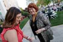 Joan Holland Crissman, WC '68, is pinned for her 50th reunion. (AJ Reynolds/Brenau University)