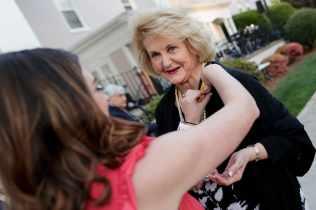 Carole Ann Carter Daniel, WC '68, is pinned for her 50th reunion. (AJ Reynolds/Brenau University)