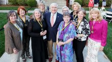 Women's College Class of 1968 and President Ed Schrader. (AJ Reynolds/Brenau University)