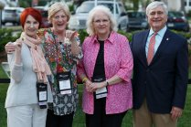 Brenau President Ed Schrader with Academy class of 1965 alumnae Sissy Gordon, Ann Lucas and Sadie Anne Forney. (AJ Reynolds/Brenau University)
