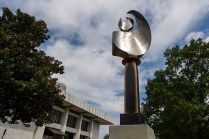 """""""Luminary 830,"""" a kinetic flame sculpture by Mike Roig, is Brenau's most recent anonymous art donation."""