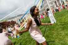 Lauren Hughes wraps the Maypole (AJ Reynolds/Brenau University)