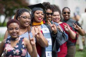 Brenau University Published by Michael McPeek Page Liked · May 8 · Daja Jones, center, smiles with her sorority sisters after receiving a Master of Science in clinical counseling psychology at the 2018 Spring Commencement Ceremony on Saturday, May 5, on Brenau University's historic Gainesville campus. (Nick Bowman for Brenau University)