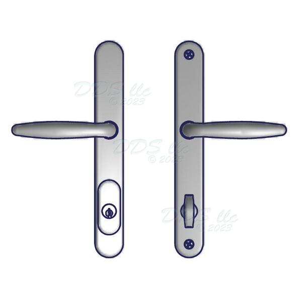 amesbury truth swing door handle set 55 251snk