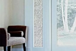 Frosted Window Films to give additional privacy in front entryways