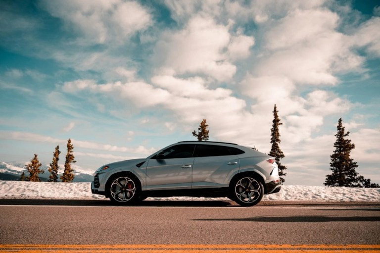 picture of tinted suv in the winter