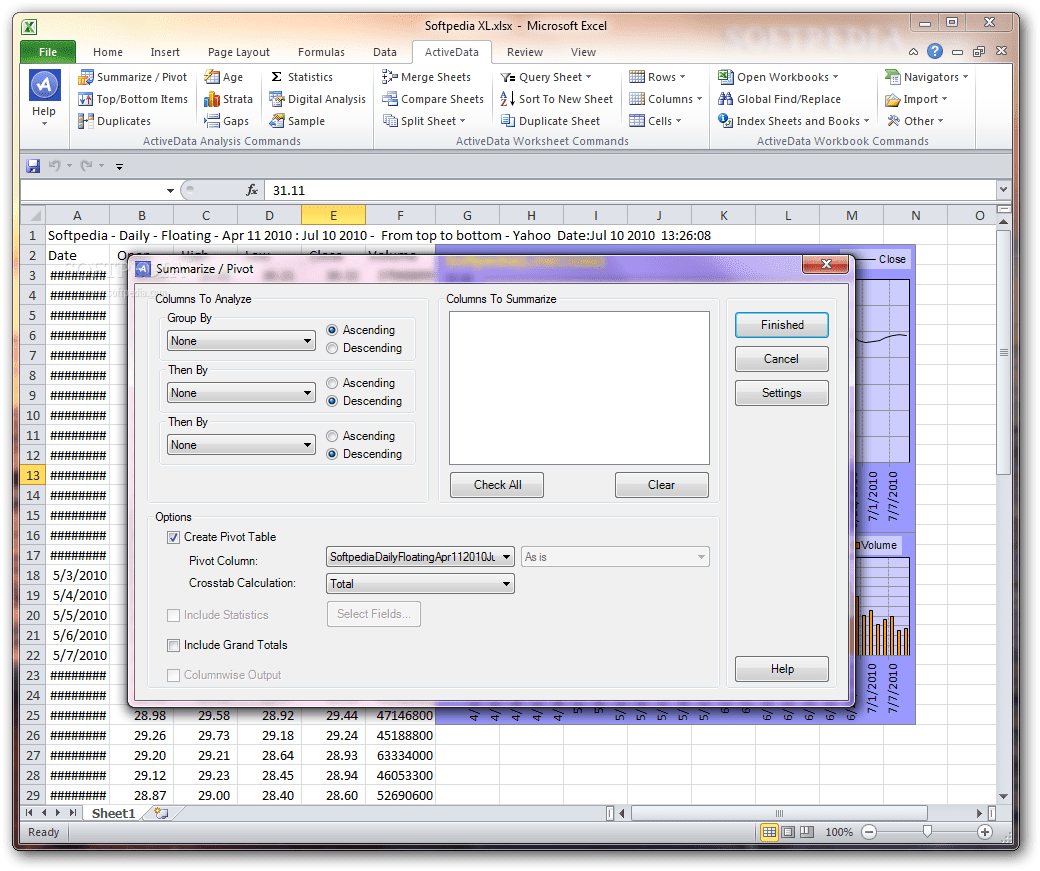Download Activedata For Excel 5 0 503