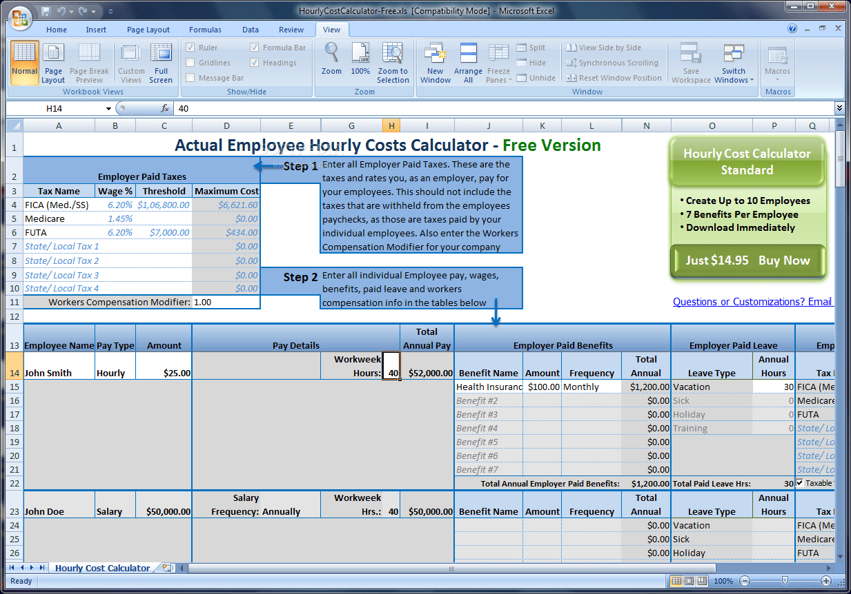 Download Actual Employee Hourly Cost Calculator 2 0