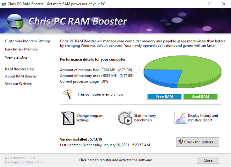 Chris-PC RAM Booster 5.9.18 Full Crack Cracked