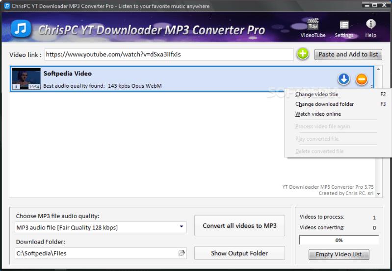ChrisPC YTD Downloader MP3 Converter Pro 6.16.9 Keygen Is Here File 2019 Download