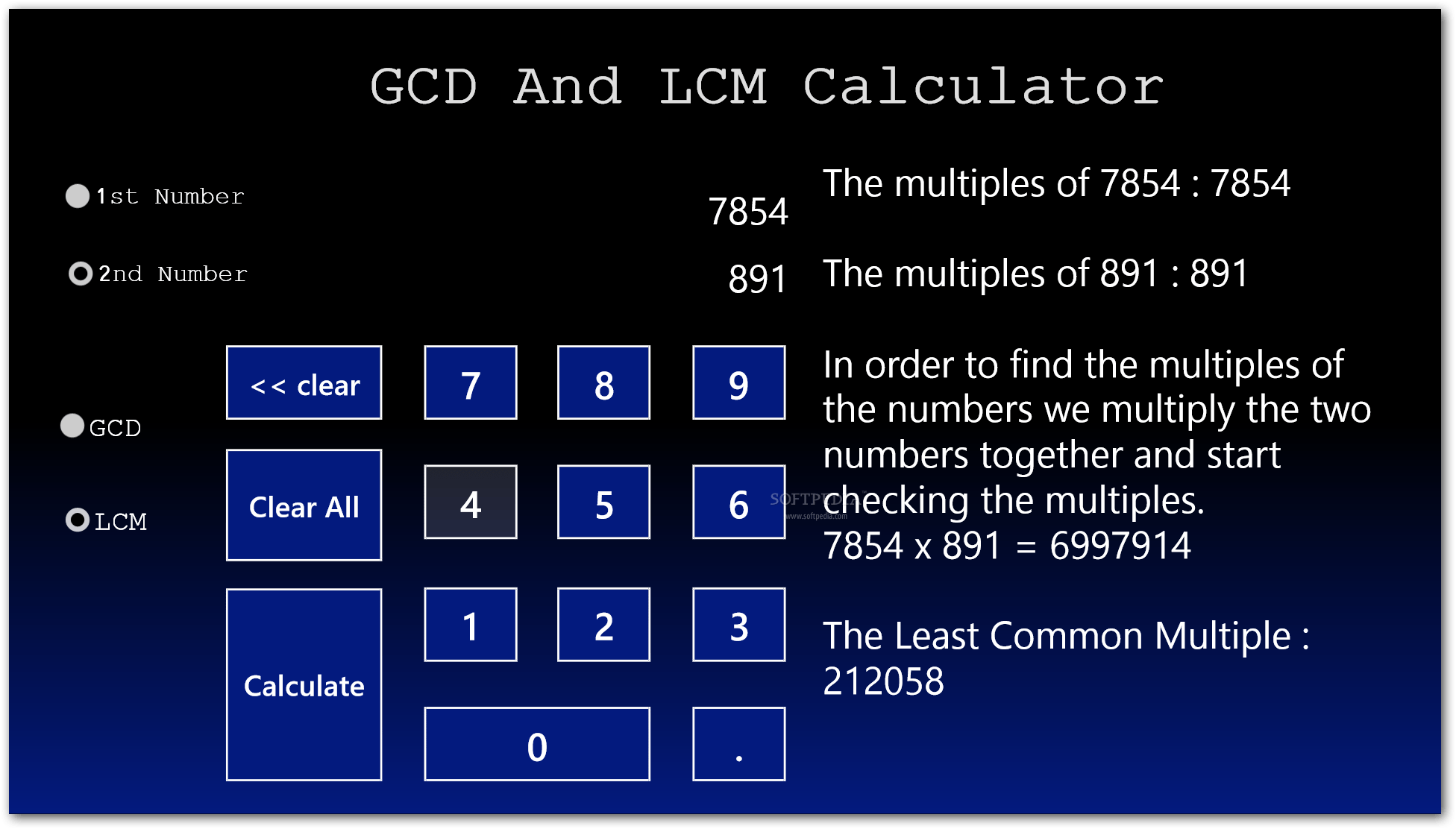 Download Gcd And Lcm Calculator For Windows 8 1 0 0 1