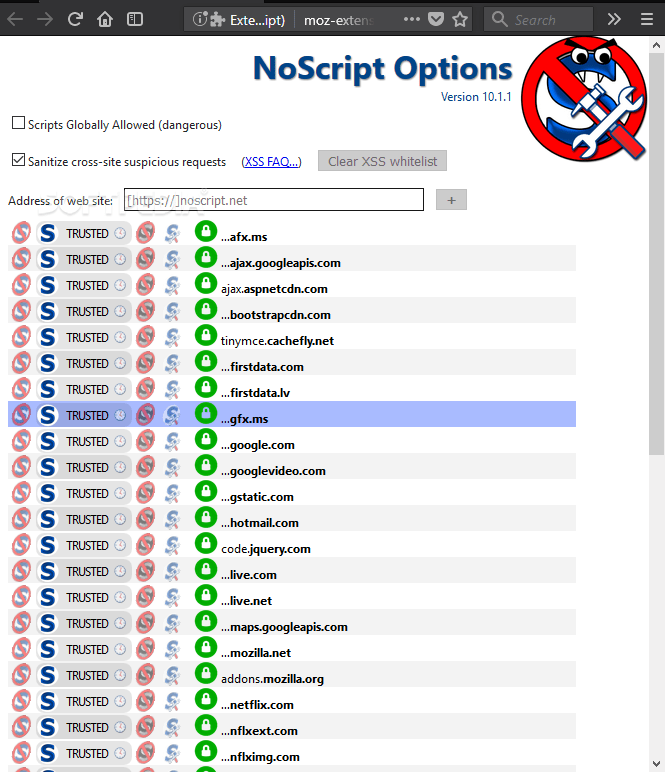 NoScript 11.0.23 Cracked Patch + Code