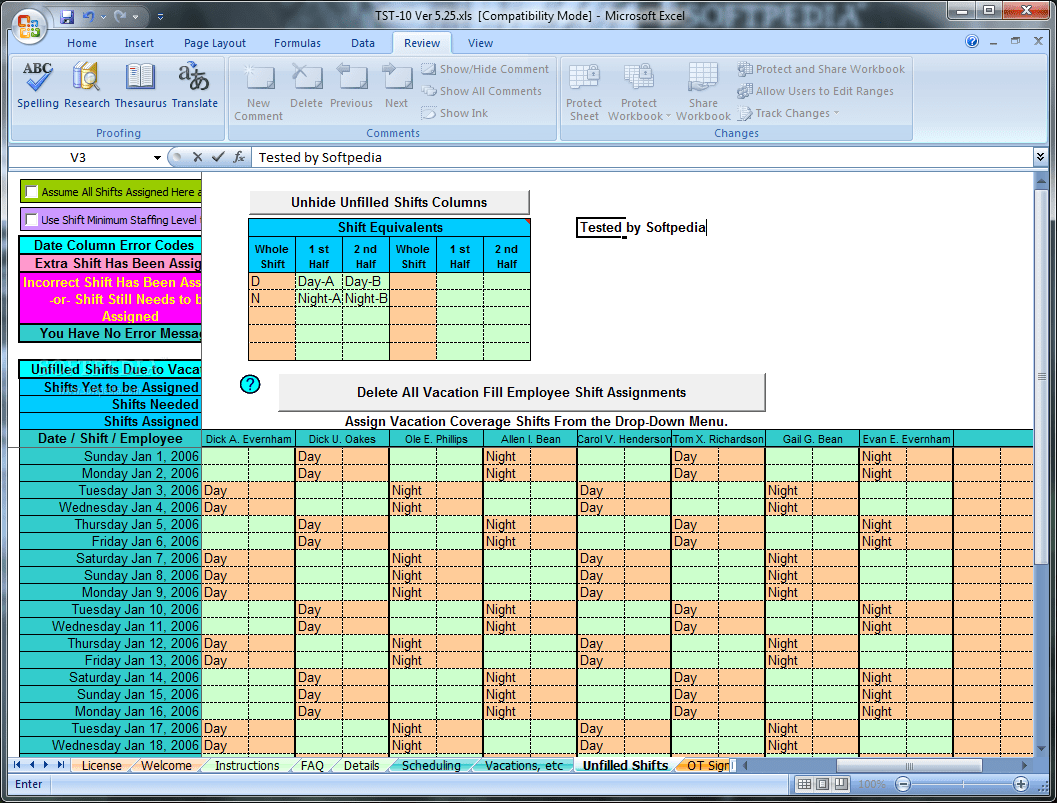 Download Schedule Rotating Shifts And Tasks 5 25