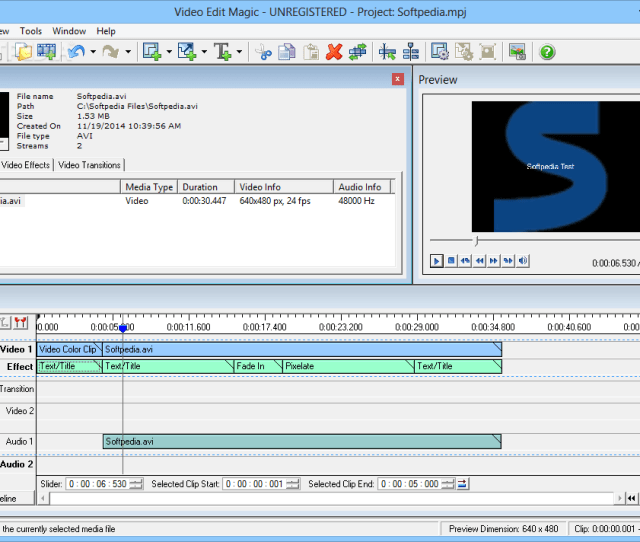 Video Edit Magic The Applications Main Window Allows Users To Add Multimedia Files To The