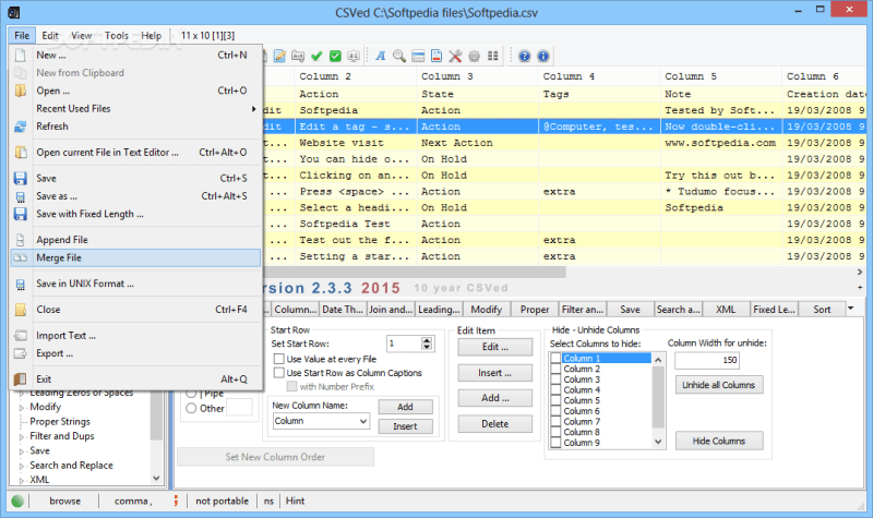 CSVed 2.5.4a 2.3.2 Download 2019