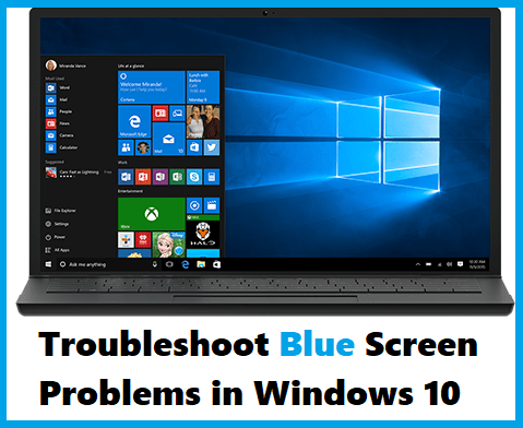 Troubleshoot Blue Screen Problems In Windows 10 Fenster 10 Pro