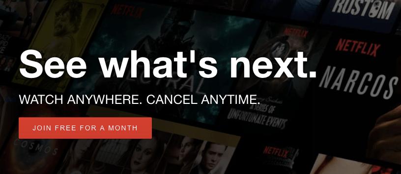 netflix free trial month 2017