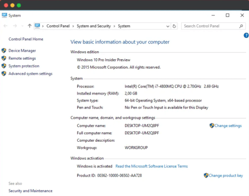 windows 10 activated now