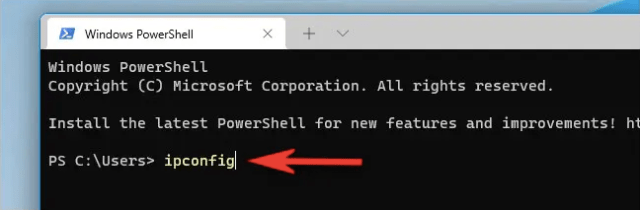 Find Your Internal IP Address on Windows 11 via Command Prompt