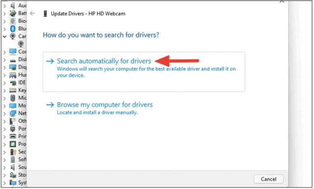Fix Windows 11 Webcam Not Working by Checking Driver Updates