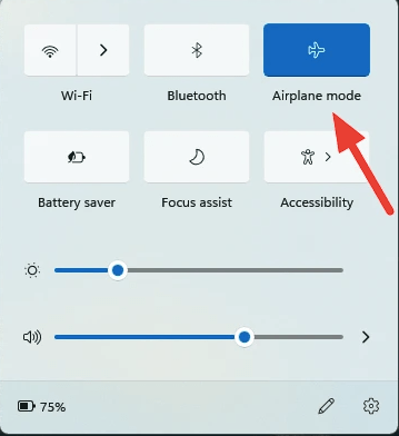 Fix Windows 11 WiFi Not Working by Disabling Airplane Mode