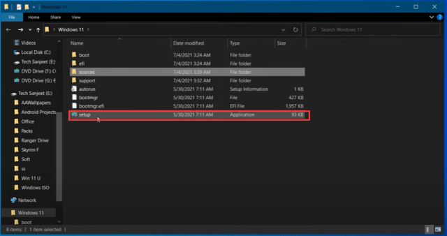 Run Windows 11 Setup
