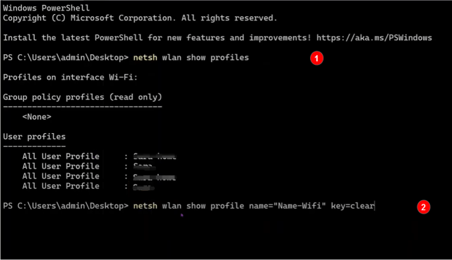Show Wi-Fi password on Command Prompt