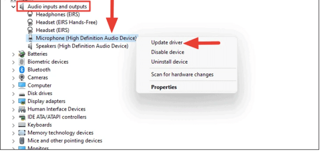 Update Drivers to Fix Microphone Not Working