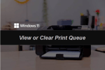 How to View or Clear Print Queue on Windows 11