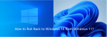 How to Downgrade Windows 11 to Windows 10 or Previous Version?