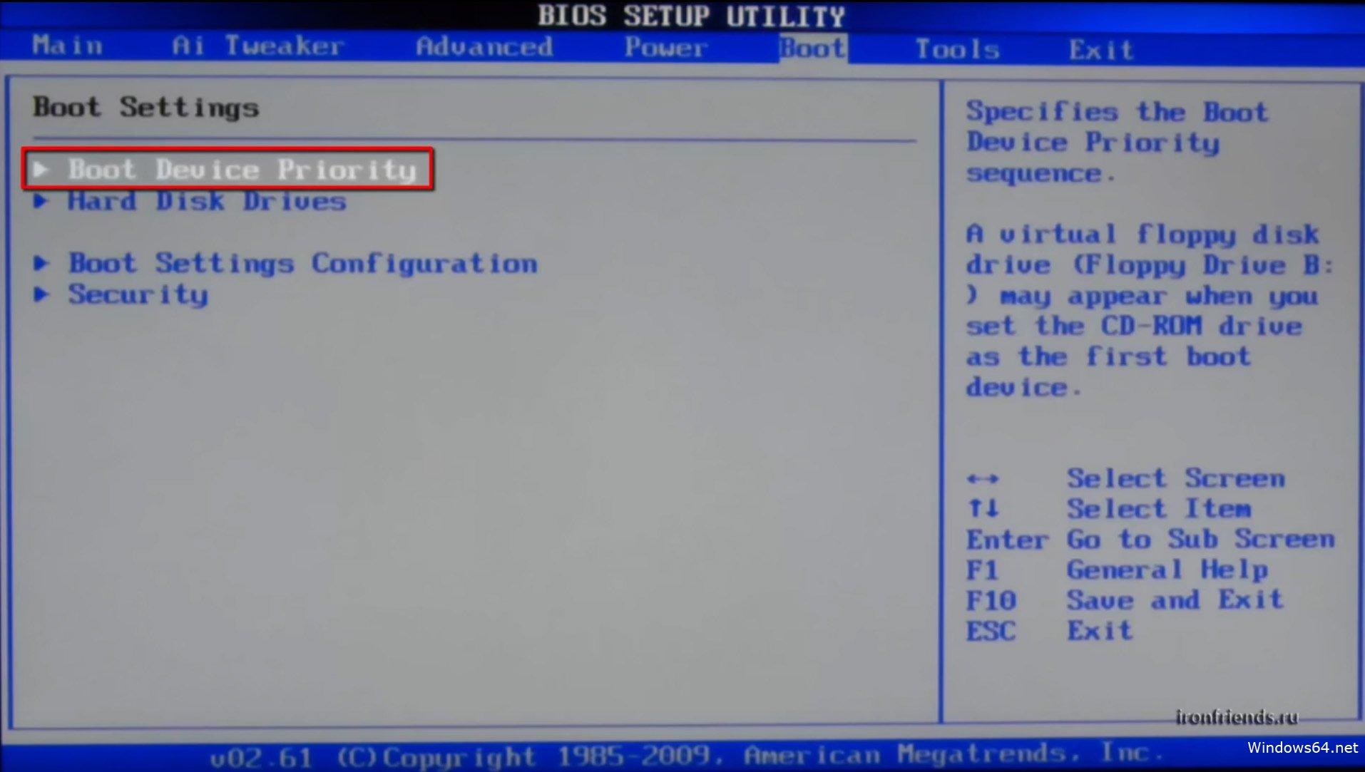 BIOS арқылы флэш-дискілермен терезелерді орнату