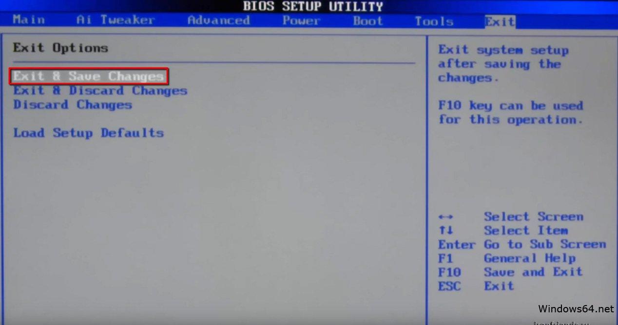 Instalando o Windows de uma unidade flash através do BIOS