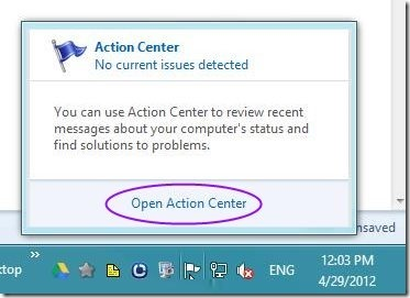 Automatic Action center