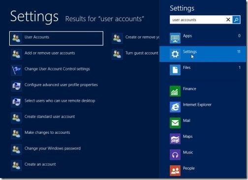 Create A Password Reset USB In Windows 8