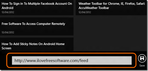 RSS Reader change feed