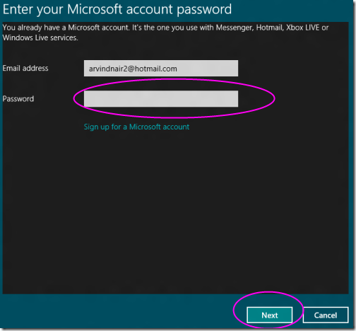 Toogle Between Microsoft account to local account 1