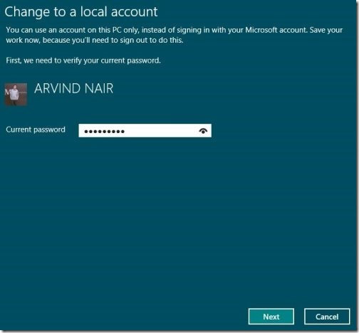 Toogle Between Microsoft account to local account 4