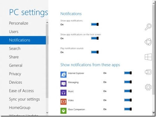 Windows 8 PC settings 2