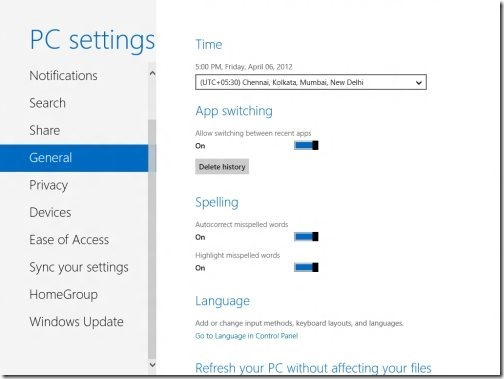 Windows 8 PC settings 5