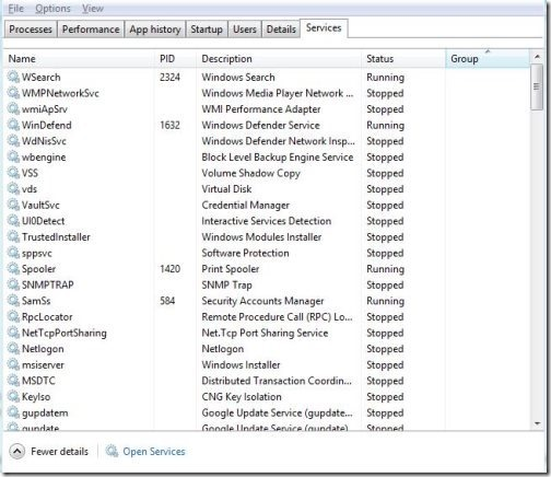 Windows 8 task manager 7