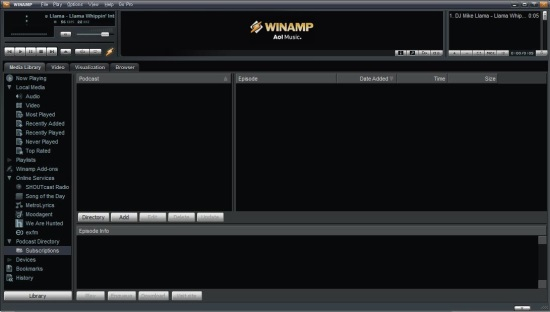 Download Winamp Media Player For Windows 8 | Windows 8 Freeware