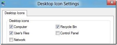 desktop icon setting